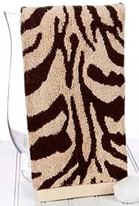 Zebra Print Brown Hand Towel: Amazon.co.uk: Kitchen & Home