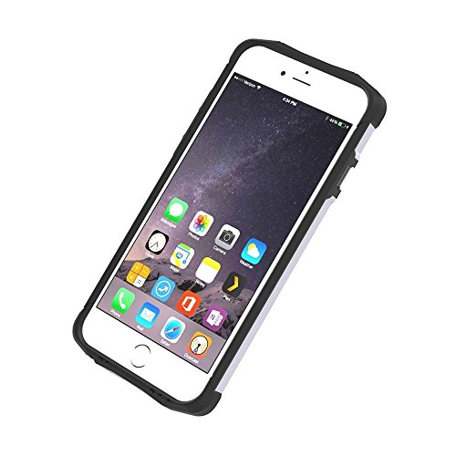 MXNET Fall für iPhone 6 & 6s TPU + PC Stahl Rüstung Kombi-Fall ,Iphone 6/6s Case ( Color : Silver ) Silver