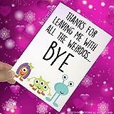 Funny die neuen Job, Kollegen, viel Glück, Herzlichen Glückwunsch, Kollegen, Abschied, Karte, lustige Witz, Büro Banter pc405