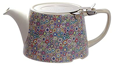 Kitchen Craft London Pottery Company Kaffe Fassett Oval-Filter en céramique Infuseur Théière, 800 ML (82,8 cl) – Presse-Papier Violet