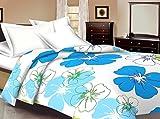 Mahadev Handicrafts Blue Flower Design K...