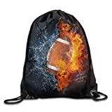 FTKLSS Lightweight Foldable Large Capacity American Football Ball Youth Drawstring Thick Straps Durable Waterproof Backpack