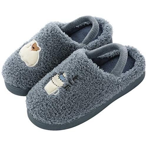 Igemy Pantofole per Bebè, Foderate in Caldo Cotone, Scarpe per Neonati con Suola Morbida Antiscivolo e Velluto, per Bambini da 3,5 a 10 Anni Ragazzi Ragazze, (Marina Militare), 25 EU