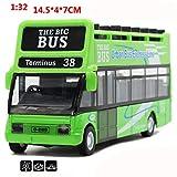 Veicoli Giocattolo,Autobus 2 Piani Turismo 1:32 con la Musicale e la Luce in Metallo,Regalo di Natale/Compleanno per Bambini