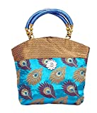 Kids Mandi Women 's Handbag (Blue,Handbag.Sawant.Peacock.4)