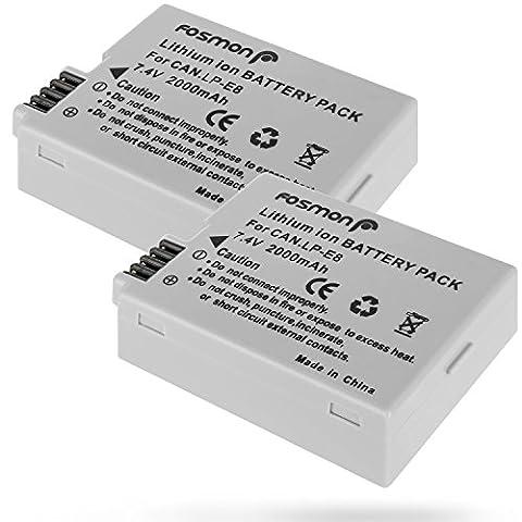 Fosmon (2 Pack) Canon NB-10L (7.4V 1200mAh) Remplacement Li-ion Batterie