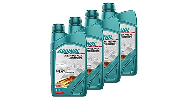Addinol 72102807 4x Engine Oil Engine Oil Diesel 5w 30 Premium 5w30 Fd 1l Auto