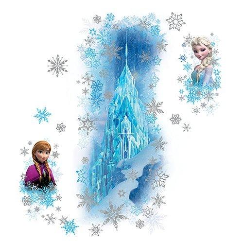 RoomMates RM - Disney Frozen Eispalast glitzernd Wandtattoo, PVC, bunt, 48 x 13 x 2.5 cm (Mädchen Wandsticker Disney Für)