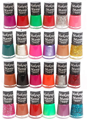 Makeup Mania Exclusive Nail Polish Set of 24 Pcs (Multicolor Set # 72, 84)
