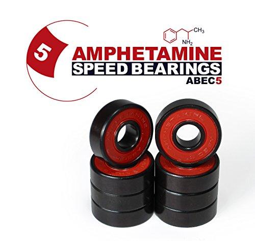Skateboard Kugellager Amphetamine ABEC 5 für Skateboard, Longboard, Inline SKates, Fidget Spinner (608 Abec 5 Lager)