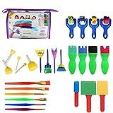 Schwamm Malerei Pinsel-Set für Kinder Early Learning Art Craft DIY Graffiti Zeichnen Puzzle Spielzeug 26 Stück