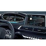 [2 pièces] LFOTPP Peugeot 3008 5008 GT 8 Pouces Navigation Verre Trempé et 12 Pouces Tableau de Bord- Dureté 9H Film Protection Écran Protecteur Vitre