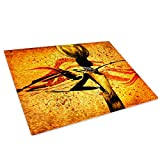 Whats On Your Wall.com Orange African Style Glasschneidebrett Arbeitsplatte Saver-Schutz
