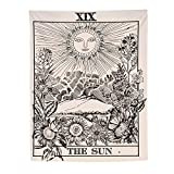 Etophigh Sonne Wandteppich, Wandtuch, Tapisserie, Tagesdecke, Picknick Matte, Strandtuch, 145 x 210 cm, aus 100% Polyester