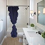 chenyu Duschvorhang Schimmel Beweis wasserdicht Mehltau Duschvorhang, gewichtet wasserabweisend Stoff Badezimmer Vorhänge mit 12Kunststoff Haken, blau, 180*200cm