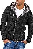 Carisma pull en tricot avec capuche 7013 [gris fonce, XL]