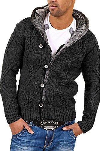 Carisma Strickjacke Jacke Pullover 7013 [Dunkelgrau, 3XL]