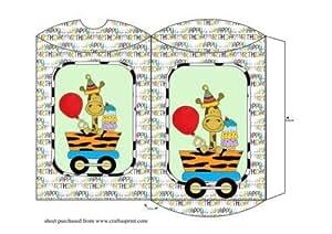 Coussin Motif girafe train carraige Boîte Poore Sharon