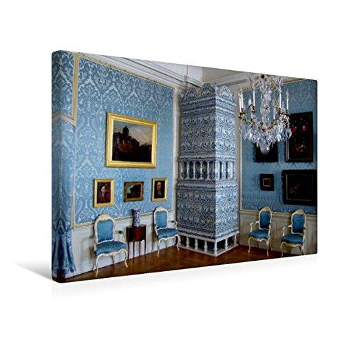 Calvendo Premium Textil-Leinwand 45 cm x 30 cm Quer, Raum mit holländischen Gemälden in Schloss Ruhental/Rundale - Ein Motiv aus Dem Kalender Traumschlösser Leinwand, Leinwanddruck Orte Orte