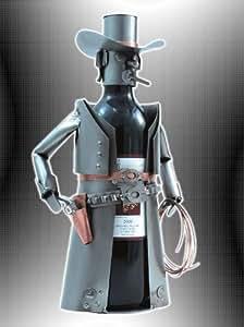 Boystoys hk design weinflaschenhalter cowboy sheriff metall art weinflaschen deko wein - Weinflaschen deko ...