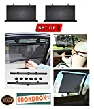 #3: RACKDACK® Universal Car Window Roller Curtain Sunshades with Vacuum Cups for Maruti Celerio (Set of 2)
