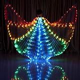 Accesorios de Danza del Vientre Alas de Abeja LED Alas Grandes Que Brillan Intensamente 360 Grados Ligero Accesorios de Baile Trajes de Escenario, One Size