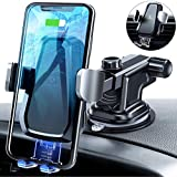 andobil Wireless Car Charger Mount, Auto Clamping 10W Fast Charging Qi Car Phone Holder Air Vent Dashboard Compatible iPhone Xs/Xs Max/XR/X/ 8/8 Plus, Samsung Galaxy S10 /S10+/S9 /S9+/S8 /S8+