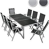 Miadomodo – Conjunto de muebles para jardín de aluminio (8 ...