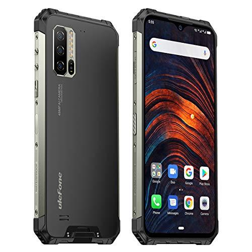 Ulefone Armor 7 8GB RAM Outdoor Smartphone (16.0cm (6,3 Zoll) FHD+ Display, 128GB interner Speicher, Dual-SIM, Android 9, Black, Herzfrequenzsensor) Schwarz