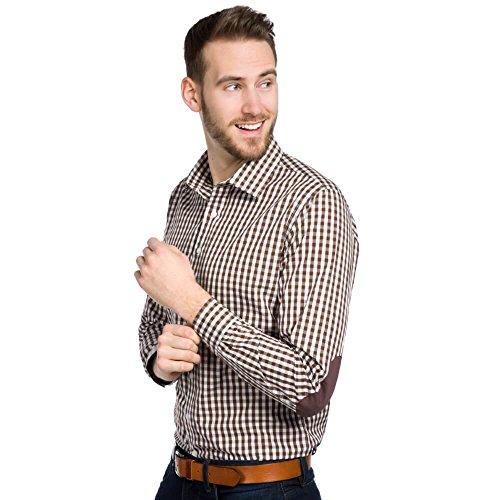 ALLBOW Ellenbogen Patches Pullover, Blauer V Ausschnitt