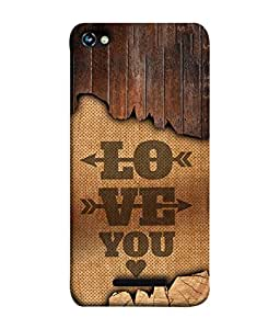 Micromax Canvas Hue 2 A316 Back Cover Love You Design From FUSON