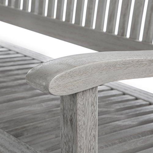 Ultranatura Gartenbank 3-Sitzer, Edles und Hochwertiges Eukalyptusholz, 152 cm x 66 cm x 86 cm - 4