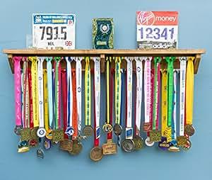 Medal Hanger Holder Display Rack With Shelf For Running