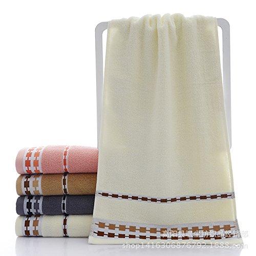 XXIN La Couleur De Pixel Serviette Serviettes Jacquard Jacquard Coton Couleur Solide Blanc,Chaîne, Swing 74 * 34