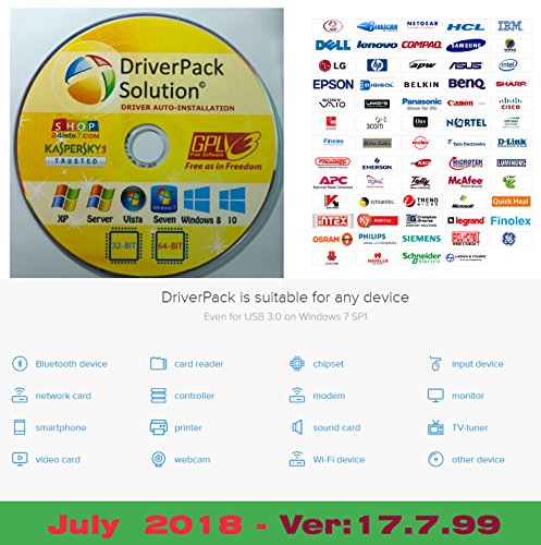 Driverpack Solution 2018 (Version : 17.7.99 - July 2018) Single DVD Edition