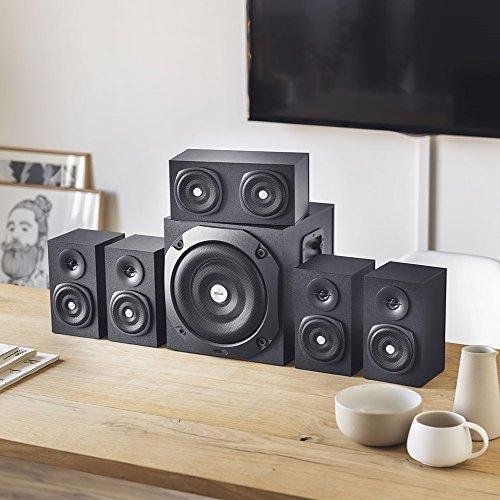 Trust Vigor 5.1 Surround Lautsprecher Set (mit Fernbedienung, 150 Watt) schwarz - 5