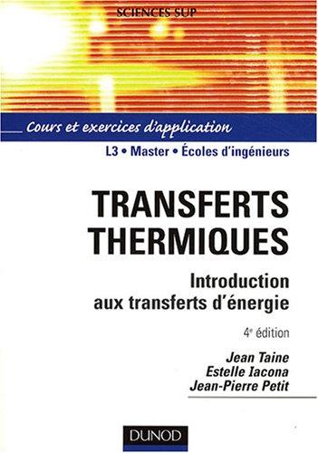 Transferts thermiques : Introduction aux...
