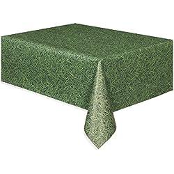 Plástico de la hierba verde con dibujos Mantel, de 9 pies x 4.5ft