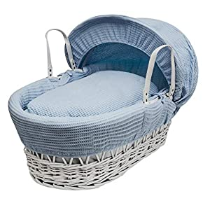 Blue Waffle Moses Basket Dressings only(Basket not included)   10