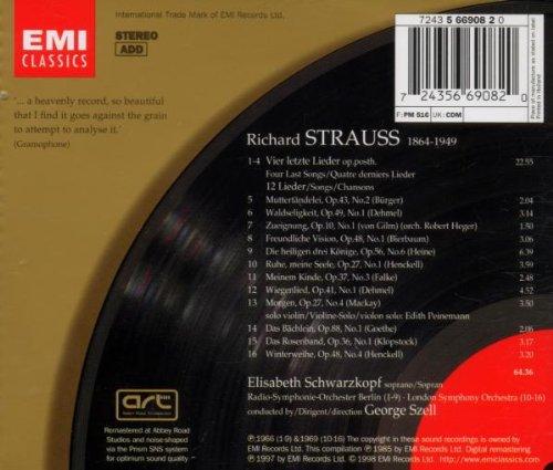 Richard Strauss : Quatre derniers Lieder - 12 lieder pour orchestre