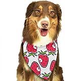 Hipiyoled Pet Bandanas Cute Strawberry Pattern Adjustbable Collars Pet Bandana Bibs for Puppy Cats