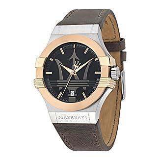 Reloj para Hombre, Colección Potenza, en Acero, PVD Oro Rosa, Cuero – R8851108014