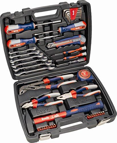 kwb Werkzeugkoffer 370731 (42-teiliger Inhalt, GS geprüft, ideal für den ambitionierten Hausgebrauch im praktischen Kunststoffkoffer)