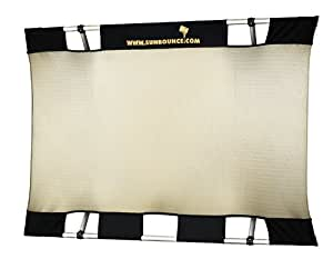 Sunbouncer Mini Kit Zebra gold/silber - Rückseite weiß (nahtlos)