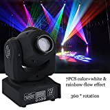ICOCO 50W DMX-512 LED Mini Moving Head RGBW mit 9/11 Kanal Master-Slave, Sound-Aktivierung, Automatikbetrieb für Party Disco Show