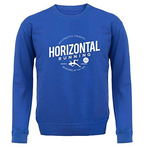 Horizontal Running- Fat Amy - Unisex Pullover/Sweatshirt - 8 Farben Royalblau