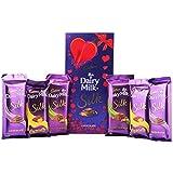 #4: Cadbury Dairy Milk Silk Caramello, Roasted Almond, Plain Silk & Special Gift Pack Combo Chocolate, 590g