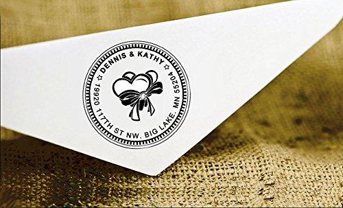 Personalizzato Rotondo Indirizzo Timbro Monogram personalizzata Timbro