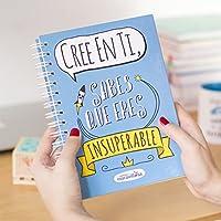 La mente es maravillosa -Cuaderno A5 -Regalo para amiga con dibujos - Cree en ti