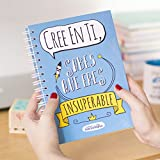 La Mente es Maravillosa | Cuaderno A5 original con divertidas pegatinas | Cree en ti, sabes que eres...